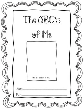 ABC's of Me Book for Back to School or End of Year