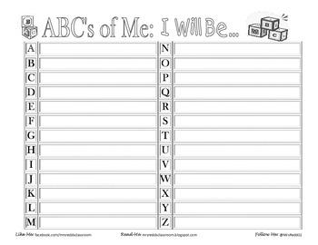 ABC's of Me Self-Exploratory Activity