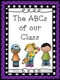 ABCs of Our Class Collective Writing Prompt and Alphabet Wall Display