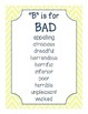 Middle School Writing Word Wall | ELA Classroom Posters