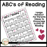 ABC's of Reading:  Ideas to Encourage a Love of Reading