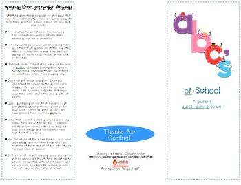 ABC's of School Brochure
