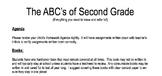 ABCs of Second Grade