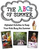 ABCs of Summer- Alphabet Activities to Keep Your Kids Busy