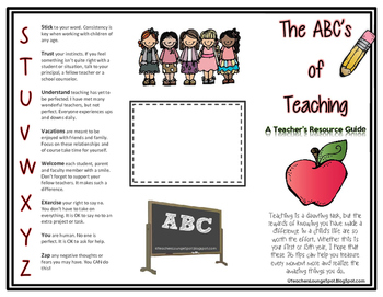 ABCs of Teaching Resource Guide - EDITABLE FREEBIE