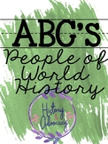 ABCs of World History - Important People Version! Editable!