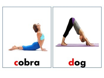 ABCs of Yoga flashcard for Children