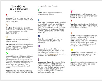 ABCs of our Class