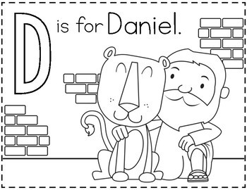 ABCs of the Bible Coloring Pages