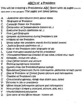 Presidential ABC's