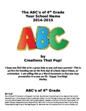 ABC's of your Grade - Beginning of the Year Policy Handout