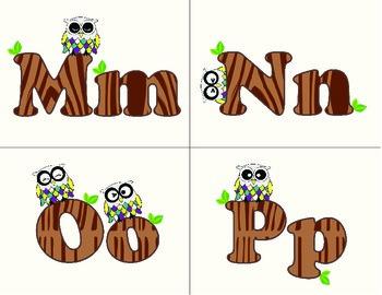 ABCs (owl theme)