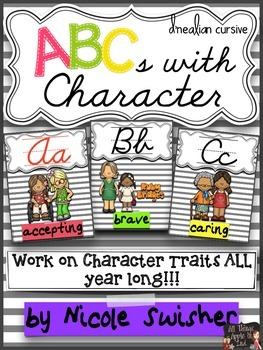 ABCs with Character (D'Nealian Cursive)- Character Traits