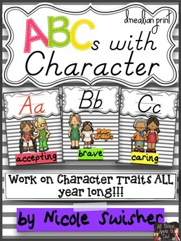 ABCs with Character (D'Nealian Print)- Character Traits +