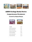 ABDO Geology Rocks Series Comprehension Worksheets