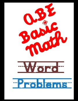 Adult Education Math Word Problems