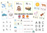 BILINGUAL ALPHABET PACK - PACK ABECEDARIO TRILINGÜE (Españ