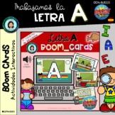 ABECEDARIO (trabajo letra A) - Boom Cards Distance Learnin