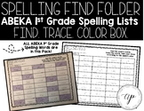 ABEKA 1st Grade Spelling Find Folder