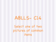 ABLLS-R C14: Receptive Language- Object Identification. No Prep!