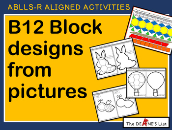 ABLLS-R  ALIGNED ACTIVITIES B12 Block designs from pictures