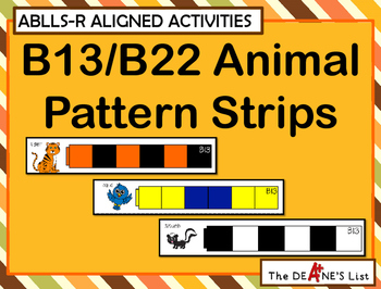 ABLLS-R  ALIGNED ACTIVITIES B13/B22 Animal pattern strips