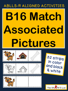 ABLLS-R ALIGNED ACTIVITIES B16 Match Associated Items