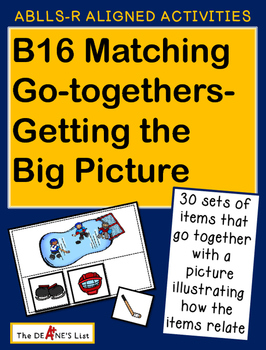 ABLLS-R ALIGNED ACTIVITIES B16 Matching Go-togethers- Getting the Big Picture
