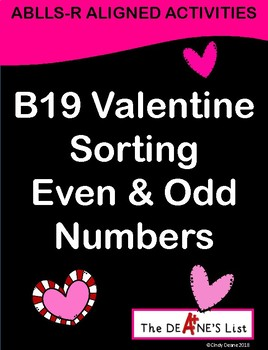 ABLLS-R ALIGNED ACTIVITIES B19 Valentine Sorting Odd and Even Numbers