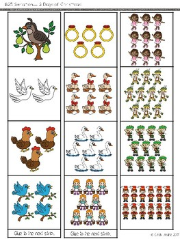 ABLLS-R  ALIGNED ACTIVITIES B25 Seriation Freebie- The 12 Days of Christmas