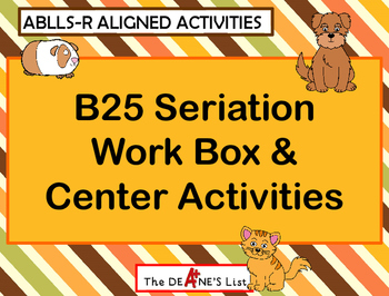 ABLLS-R  ALIGNED ACTIVITIES B25 Seriation with Animals Work Box Activities