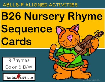 ABLLS R ALIGNED ACTIVITIES B26 Nursery Rhyme Sequence Cards
