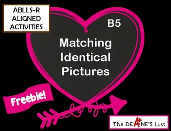ABLLS-R  ALIGNED ACTIVITIES B5 Valentine Task Card Freebie