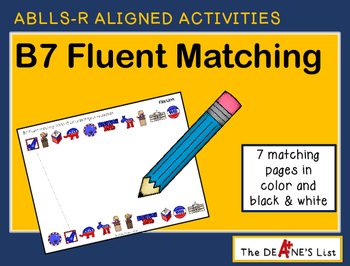 ABLLS-R ALIGNED ACTIVITIES B7 Fluent Matching
