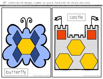 ABLLS-R  ALIGNED ACTIVITIES B9 Place blocks on a block design picture card