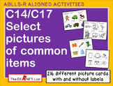 ABLLS-R ALIGNED ACTIVITIES C14 & C17 Select pictures of common items