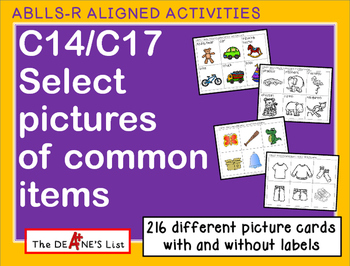 ABLLS-R ALIGNED ACTIVITIES C14 & C17 Select pictures of co