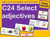 ABLLS-R  ALIGNED ACTIVITIES C24 Select Adjectives- Photo Version