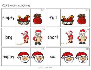 ABLLS-R ALIGNED ACTIVITIES C24 Selects Adjectives- Holiday Edition