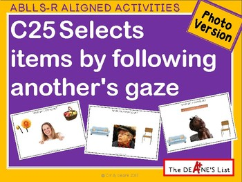 ABLLS-R ALIGNED ACTIVITIES C25 Select by following another's gaze-Photo Version