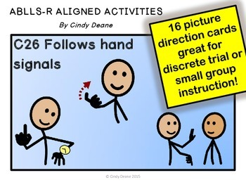 ABLLS-R ALIGNED ACTIVITIES C26 Follows hand signals (with SymbolStix)