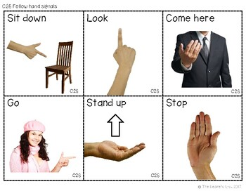 ABLLS-R ALIGNED ACTIVITIES C26 Follows hand signals- Photo version