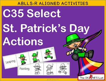 ABLLS-R ALIGNED ACTIVITIES C35 Select St. Patrick's Day Actions
