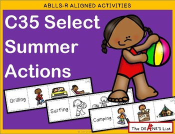 ABLLS-R ALIGNED ACTIVITIES C35 Select Summer Actions