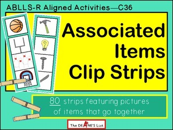 ABLLS-R ALIGNED ACTIVITIES C36 Associated Items Clip Strips