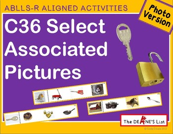 ABLLS-R ALIGNED ACTIVITIES C36 Select associated pictures- Photo version