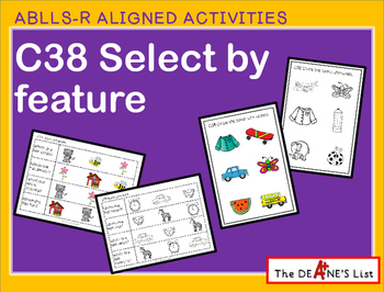 ABLLS-R ALIGNED ACTIVITIES C38 Select by feature