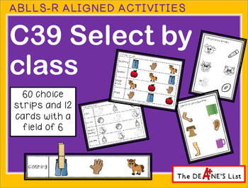 ABLLS-R ALIGNED ACTIVITIES C39 Select by class