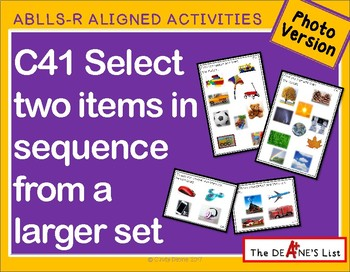 ABLLS-R ALIGNED ACTIVITIES C41 Select 2 items in sequence- Photo Version