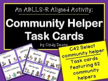 ABLLS-R ALIGNED ACTIVITIES C42 Community Helper Task Cards